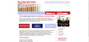 Spinal Orthopaedic consultant web